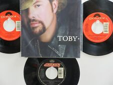 LOT OF 4 'TOBY KEITH' HIT 45's+1P(Copy)[I'm So Happy I Can't Stop Crying]  90's!
