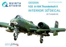 Quinta Studio QD32008 1/32 A-10A Thunderbolt II Interior Set w/free shipping