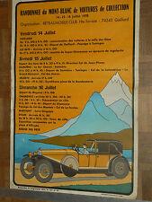 Affiche Randonnée Mt blanc Savoie Rallye Auto 1978 Suisse poster automobile