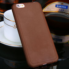 Luxury Ultra Leather Grain Soft TPU Case Back Cover For Apple iPhone X 8 5 7Plus