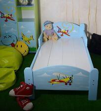 Lit D'enfant Garcon Bleu Avion Chambre D'enfant Meuble Peint Qualite Superieure