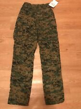 WOODLAND MARPAT TROUSERS MEDIUM MILITARY USMC CAMO PANTS with INSECT SHIELD