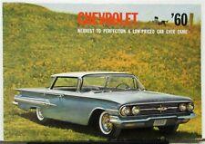 1960 Chevrolet Impala Belair Biscayne Station Wagon Corvair Sales Folder Mailer