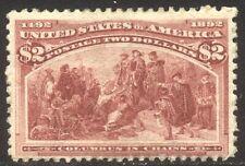 U.S. #242 Unused - 1893 $2.00 Coulmbian ($500)