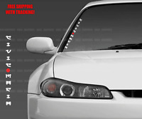 "Civic Mafia Japanese Vertical Windshield Decal Sticker 21"" Fits Honda Vehicles"