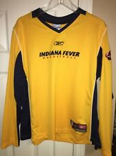 NWT Reebok WNBA Indiana Fever Woman's Long Sleeve Shooting Shirt Large
