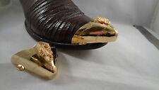 "Scorpion  Gold Tone Boot Tips (opening 2.25"") Set Southwestern"