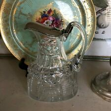 Lovely Moser Cut Crystal Claret Jug with 800 Silver Lid