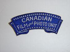 c0061 WW2 Army Canadian Film and Photo Unit Patch R10C