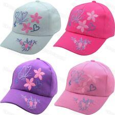 Girls Baseball Cap Butterfly Design Childrens Adjustable Summer Beach Sun Hat