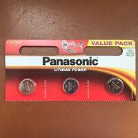 3 Panasonic CR2025 3V Pilas de Botón Litio Baterías 2025 para Mando Llaves