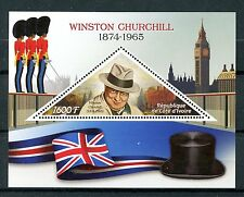 Costa de Marfil 2016 estampillada sin montar o nunca montada Winston Churchill 1v S/S Big Ben banderas SELLOS