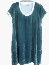 CP Shades Elodie Velvet Dress/Tunic dark teal short sleeve M or S NEW