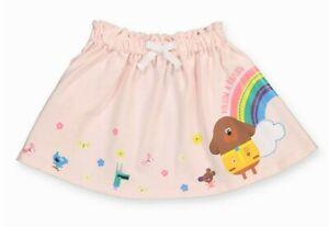 🌈BNWT TU Pink Glitter Rainbow Floral Hey Duggee Skirt 12-18 Months Post Next Dy