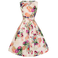 Hearts and Roses London English Garden Floral 1950s Vintage Retro Summer Dress