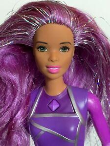 Mattel Barbie Doll ASHA FACE African American Purple Silver Hair, Astronaut