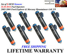 OEM Siemens Set of 8 Injectors For 2002-2004 Ford Explorer & Mountaineer 4.6L V8