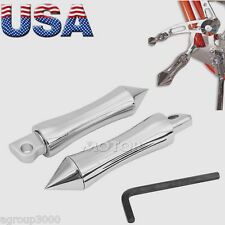 "Motorcycle 6"" Chrome Spike Pirate Brake Foot Toe Peg for Harley Shifter Footpeg"