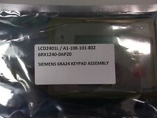 SIEMENS, A1-108-101-802, LCD2401L/6RX1240-0AP20, OPERATOR DISPLAY PANEL, 6RA24 K