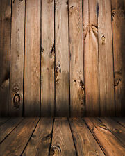 New wood wall vinyl photography Backdrop Background studio prop 5x7FT