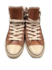 Converse Chuck Taylor All Star Hi - Brown Leather - Size 10