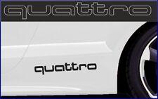 1 Paar AUDI QUATTRO  Auto Seiten Aufkleber - Car Sticker - Car Decal - L 30cm !