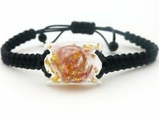 Rose quartz Orgonite(2.4cm x 1.8cm) Bracelet-Wealth,Love,Meditation-talisman