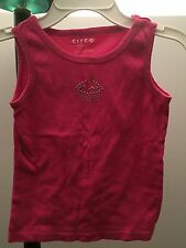Circo Girls Hot Pink Cotton Tank Top Sequins Cupcake Size S Small