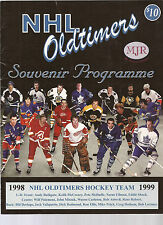 1999 NHL OLDTIMERS SOUVENIR PROGRAMMME FOR THE CHATHAM-KENT POLICE SERVICE