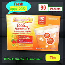 (JUST arrive!!!) Emergen-C 90 Packets 1000 mg Vitamin C Drink immune support