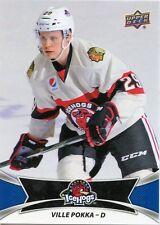 16/17 UPPER DECK AHL #61 VILLE POKKA ROCKFORD ICEHOGS *30982