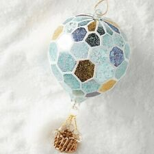 Anthropologie Hot Air Balloon Christmas Ornament rare new