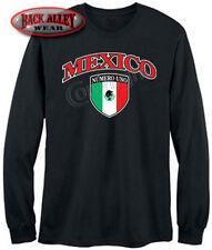 Mexican Crest Pride Long Sleeve Shirt Mexico Flag Numero Uno Hispanic