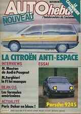 AUTO HEBDO n°503 du 2 Janvier 1986 DAKAR FORGHIERI PORSCHE 924S
