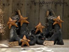 PATTERN Primitive Witch Witches Boots & Crows w/ Stars Ornie Doll Display TBP