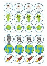 24 icing cupcake cake toppers edible space new design nd1 cartoon