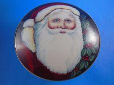 NIB Mikasa Old Saint Nick Christmas Santa Claus Round Trinket Box Candy Jar