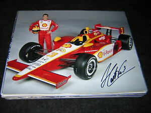 Indycar HELIO CASTRONEVES signed SHELL 8x10! 3X Indianapolis 500 winner! +COA!
