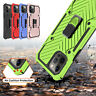 For iPhone 12/Pro Max/12 Mini 5G Magnetic Phone Case Ring Holder Kickstand Cover