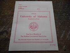 * Vintage University of Alabama Examination Book ( unused ) Student Governent *