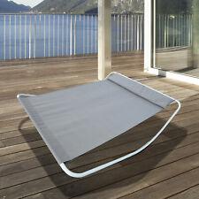 Double Garden Patio Relaxing Day Bed Outdoor Sun Lounger Hammock Grey