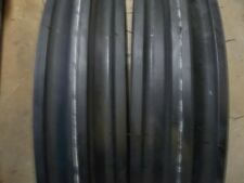 (2) 400x12,400-12,4.00x12,4.00-12 CUB FARMALL 3 Rib Tractor Tires with Tubes