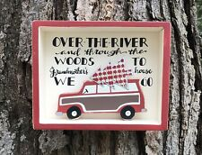 Christmas ...TO GRANDMOTHER'S HOUSE WE GO Primitives by Kathy Holiday Box Sign