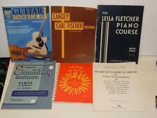 Vintage Lot of 6 Sheet Music Tab Books Lanhey Mandolin,Piano, Flute, Guitar VGC
