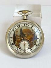 Rare Ottoman Turkish Award Suleymaniye Mosque OMEGA Silver .900 Pocket Watch