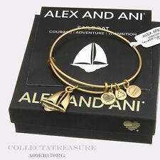 Authentic Alex and Ani Sailboat Rafaelian Gold Charm Bangle