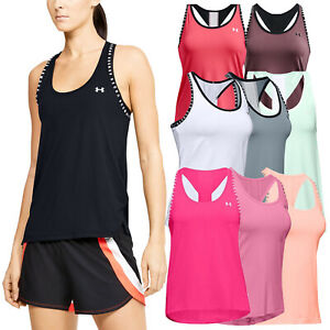 2021 Under Armour Ladies Knockout Tank Top Vest UA Gym Training Running Yoga