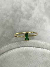 14k Yellow Gold Over Emerald Cut Wedding Engagement Ring