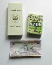 KUWAITI LIBERATION  MEDAL / IRAQI MOST WANTED PLAYING CARDS / IRAQI BANKNOTE.