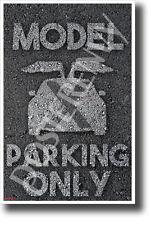 Tesla Model X Parking Only - NEW Humor Elon Musk POSTER (hu404)